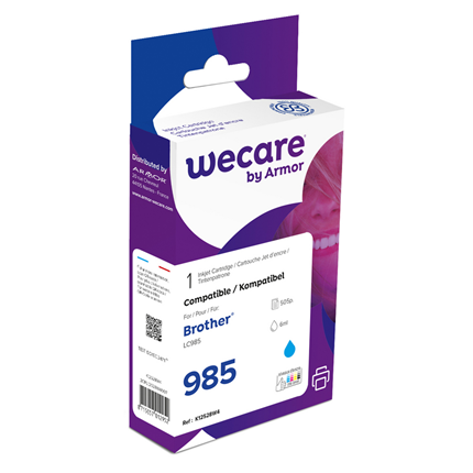 weCare Cartridge Brother LC985 Blauw