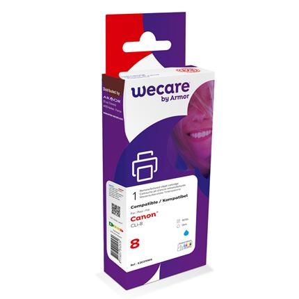 weCare Cartridge Canon CLI-8 Blauw