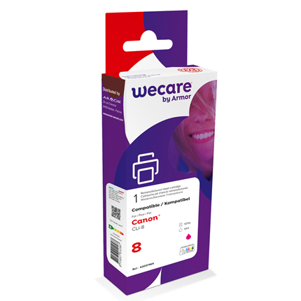 weCare Cartridge Canon CLI-8 Rood