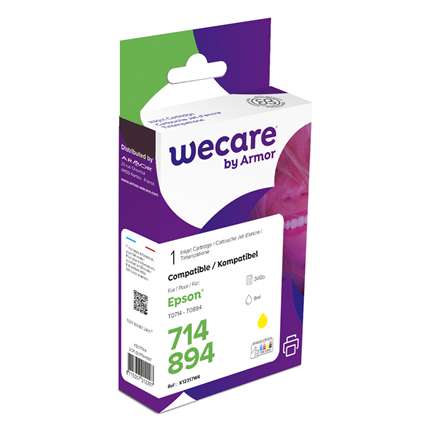 weCare Cartridge Epson T071440 Geel