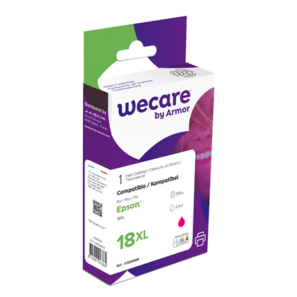 weCare Cartridge Epson T181340XL Rood