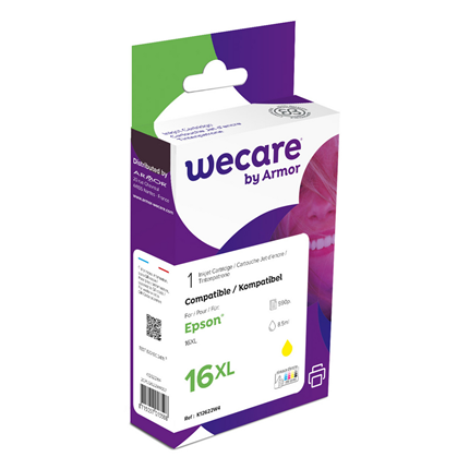 weCare Cartridge Epson T163440XL Geel