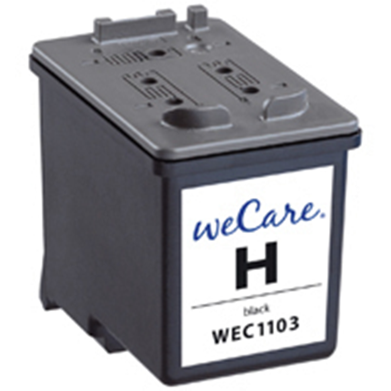 weCare Cartridge HP 27 Zwart