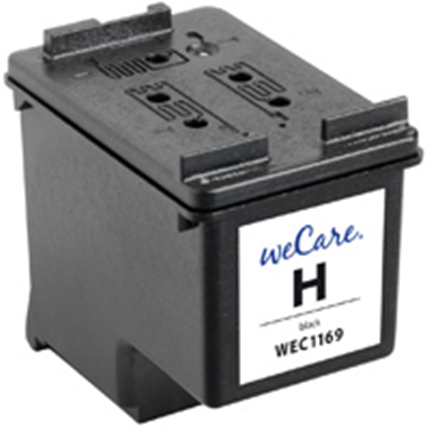 weCare Cartridge compatible met HP 337 Zwart