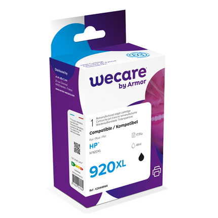 weCare Cartridge compatible met HP 920 XL Zwart