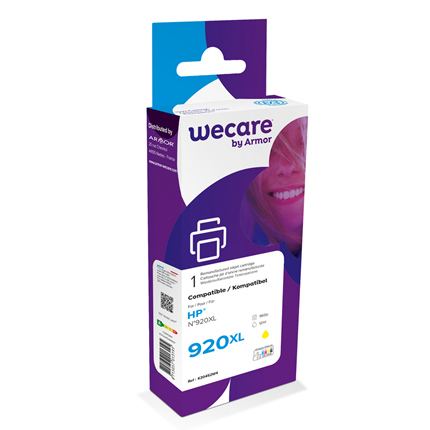 weCare Cartridge compatible met HP 920 XL Geel