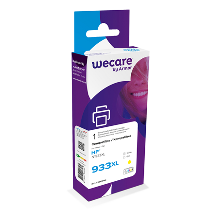 weCare Cartridge compatible met HP 933 XL Geel
