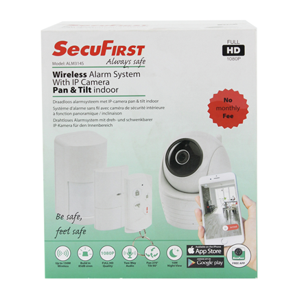 SecuFirst draadloos alarmsysteem met IP camera indoor ALM314S