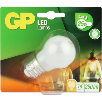 GP Led E27 2,1W 250Lm Kogel Filament