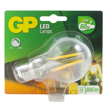 Gp Led Lamp E27 8.3W 806Lm Classic Filament Dimbaar