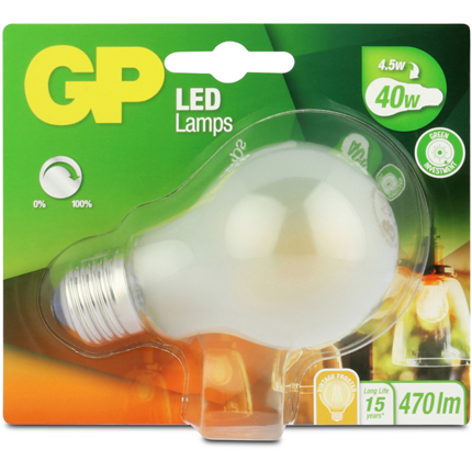 GP Led E27 4,5W 470Lm Classic Filament