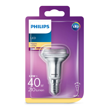 Philips R50 Reflector E14 LED lamp 2,8 Watt 210 Lumen