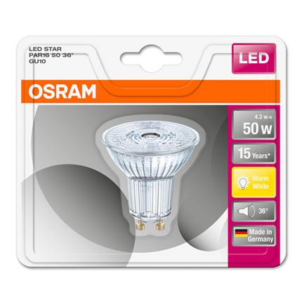 Led Warm 3w Gu10 36° Ampoule Osram Par16 4 8nmNv0w