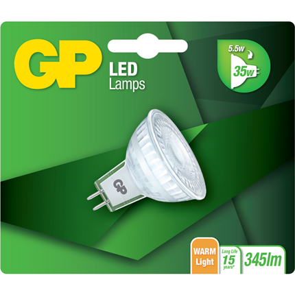 GP Lightning LED Kogel 5,5W GU5.3 MR16