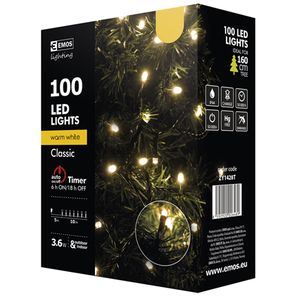 Emos Led Kerstverlichting Warm Wit 100 leds 10 meter