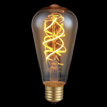LED's Light Vintage Gold Filament LED E27 5 Watt 230 Lumen Dimbaar