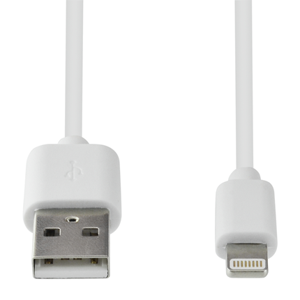Grab 'N Go Apple Lightning Wit 1 meter (geen MFI)