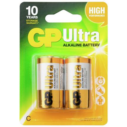 GP C 2 stuks Ultra Plus Alkaline Batterij
