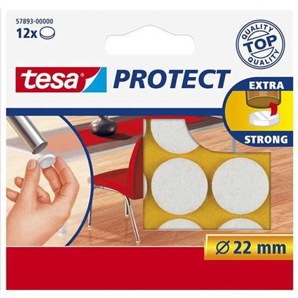 Tesa Vilt Rond 22mm Wit