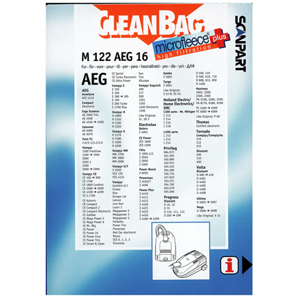 CleanBag Microfleece+ M122AEG16