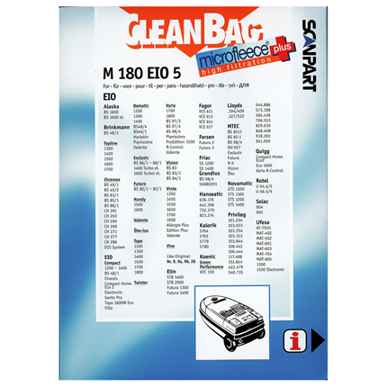 CleanBag Microfleece+ M180EIO5