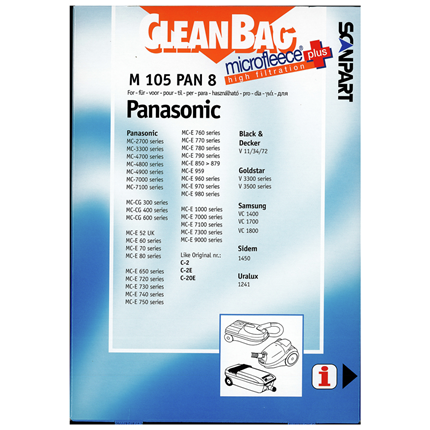 CleanBag Microfleece+ M105PAN8