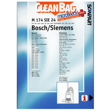 CleanBag Microfleece+ M174SIE24