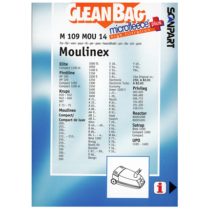 CleanBag Microfleece+ M109MOU14