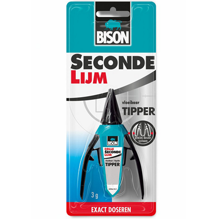 Bison Secondelijm 2ml met Tipper
