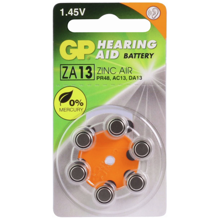 GP ZA13 Hoorapparaat Knoopcel Zinc Air Batterij