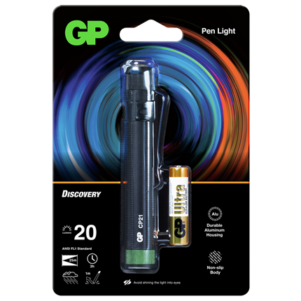 GP LED Pen Zaklamp 20Lm