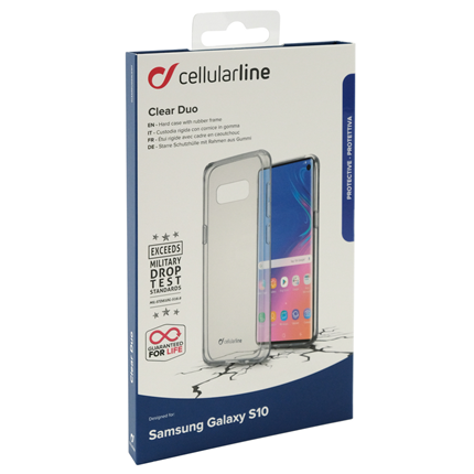Cellular Line Samsung S10 Backcover Clear Duo