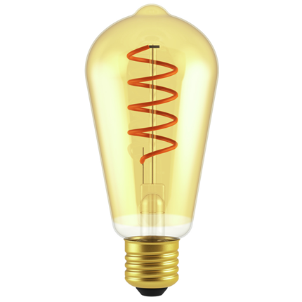 GP LED lamp E27 5W 250Lm ST64 vintage gold 085256