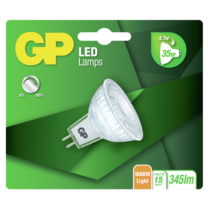 GP LED lamp GU5.3 4,7W 345Lm reflector dimbaar 084983