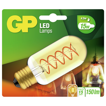 GP LED lamp E27 4,5W 150Lm T45 vintage gold