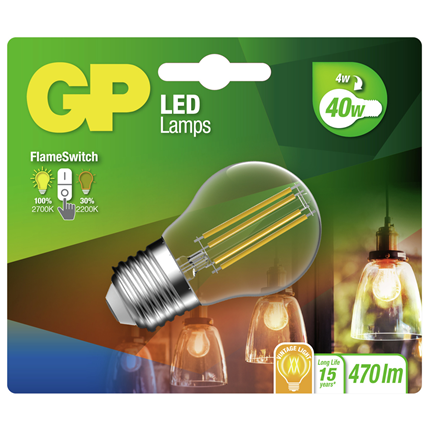 GP LED lamp mini globe filament FS 4W E27 085409