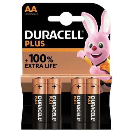 Duracell AA Plus Power Alkaline Batterij