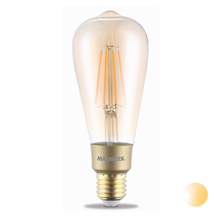 Marmitek LED Filament lamp E27 6W Dimbaar