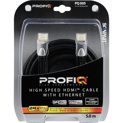 Profiq HDMI Kabel High Speed Ethernet 5m