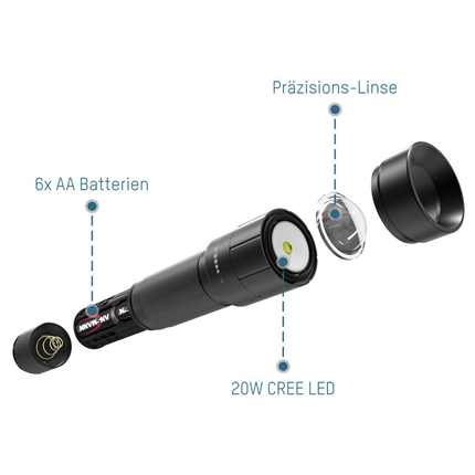 Ansmann LED zaklamp 1500 Lumen