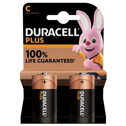 Duracell Plus C Alkaline batterij