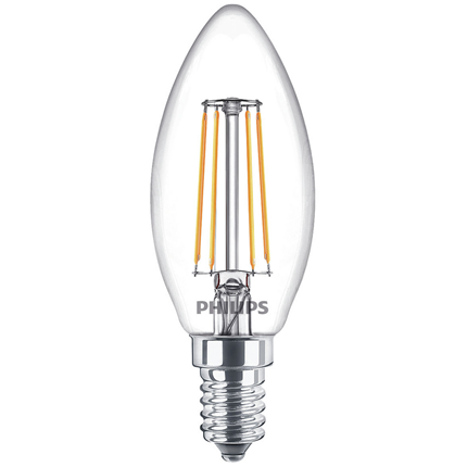Philips LED Lamp E14 4,3W Kaars Helder