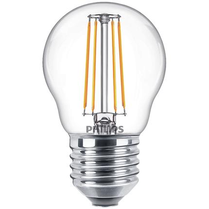 Philips LED Lamp E27 4,3W Kogel Helder