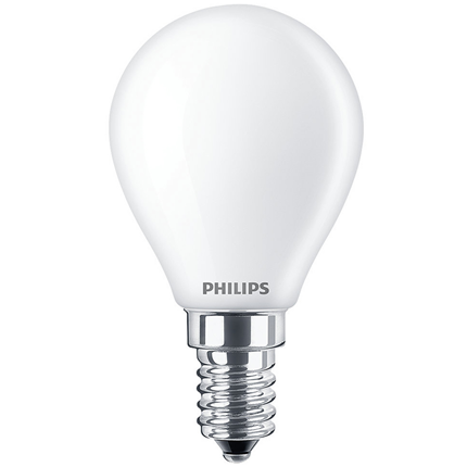 Philips LED Lamp E14 4,3W Kogel