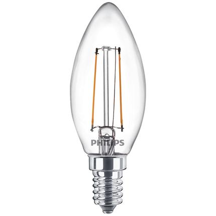 Philips LED Lamp E14 2W Kaars