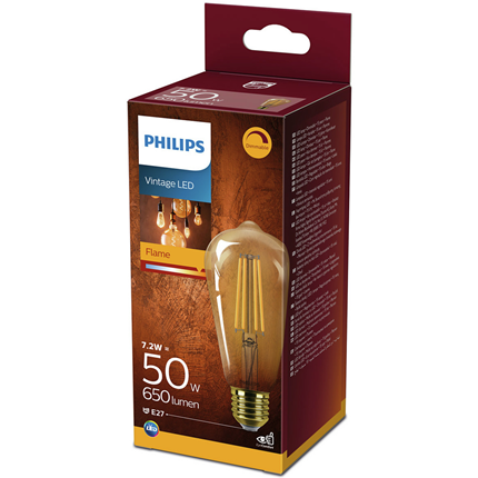 Philips LED Lamp E27 7,2W Dimbaar