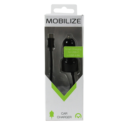 Mobilize Autolader 1 USB & 1 x USB-C Uitgang + Snellader