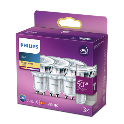 Philips LED Lamp GU10 4,6W