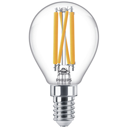 Philips LED Lamp E14 4,5W Kogel dimbaar