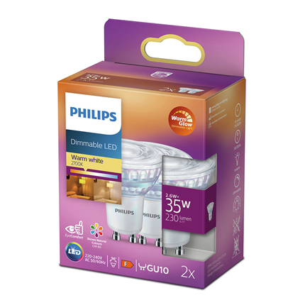 Philips LED Lamp GU10 4W dimbaar